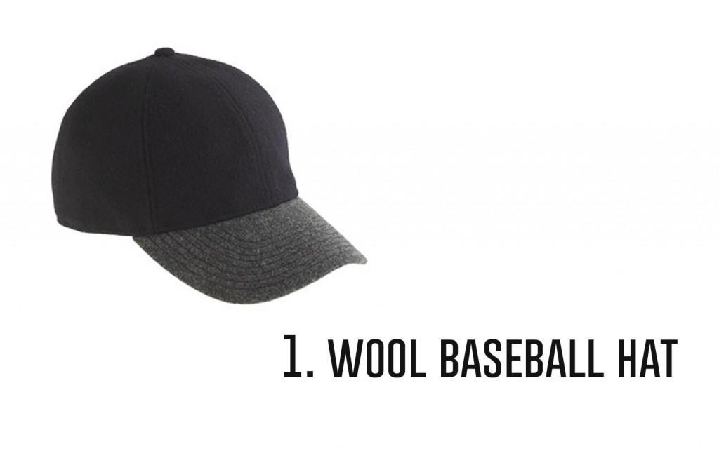 1.wool baseball hat