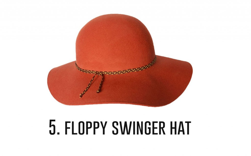 5.floppy swinger hat